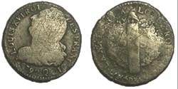 2 sols  dit au faisceau  1792 Q.