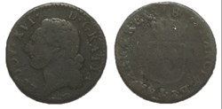 Demi-sol dit à l'écu Louis XVI 1780 I