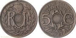 5 centimes lindaueur non trouée
