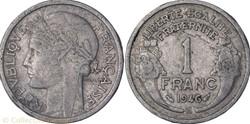 1 franc Morlon 1946 B frappe médaille