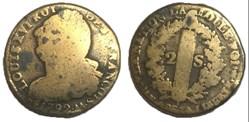 2 sols  dit au faisceau  1792 .AA.