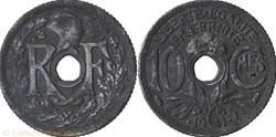 10 centimes lindauer 1941  frappe médail...