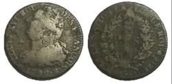 2 sols  dit au faisceau  1792 .B.