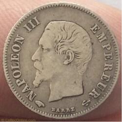 20 cent Napoléon III 1859 A tête nue Par...