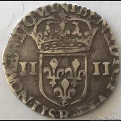 Quart d'écu Charles X 1592 B Rouen