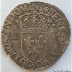 Quart d'écu Henri III 1584 T Nantes