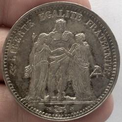 5 francs Hercule 1848 BB STRASBOURG