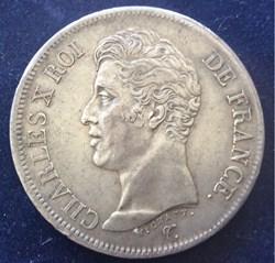 5 francs Charles X 1825 I Limoges 1er ty...