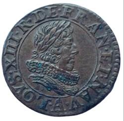 Double tournois Louis XIII 1630 A Paris