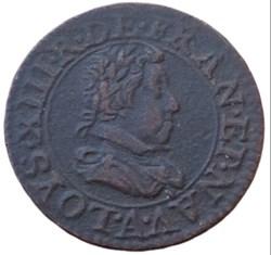 Double tournois Louis XIII 1621 A Paris