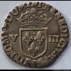 Huitième d'écu Henri IIII 1590 L Bayonne