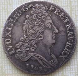 10 sols aux insignes Louis XIV 1703 A Pa...