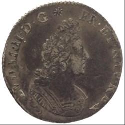 Douzième d'écu aux palmes Louis XIV 1694...