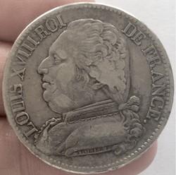 5 francs Louis XVIII buste habillé 1814 ...