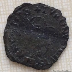 Denier tournois Henri II 1557 A 2ème typ...