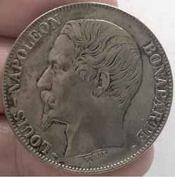 5 francs  Louis Napoléon Bonaparte 1852 ...