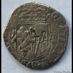 Huitième d'écu de Navarre Henri IIII nd ...