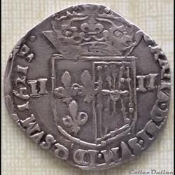 Quart d'écu de Navarre Louis XIII 1621 Saint palais