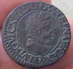 Double tournois Louis XIII 1611 D Lyon