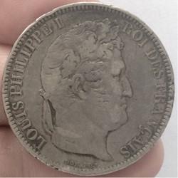 5 francs tête nue Louis-Philippe tranche...