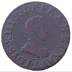 Double tournois Louis XIII 1615 A Paris
