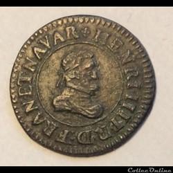 Denier tournois 1610 D Lyon Henri IIII C...