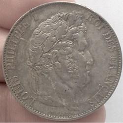 5 francs tête laurée Louis-Philippe I I ...