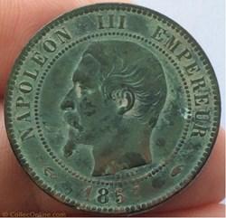10 centimes Napoléon III 1857 A tête nue...
