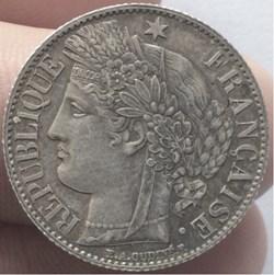 1 franc Cérès 1872 A Paris