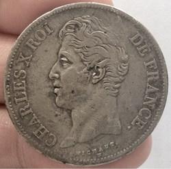 5 francs 1828 B Rouen Charles X 2ème  ty...
