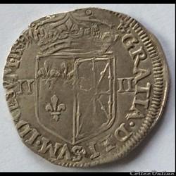 Quart d'écu de Navarre Henri IIII 1589 S...