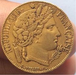 20 francs or Cérès 1851 A Paris
