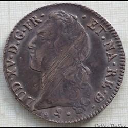 Écu au bandeau de Béarn Louis XV 1764 vachette Pau