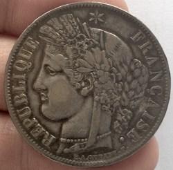 5 francs Cérès 1849 A Paris