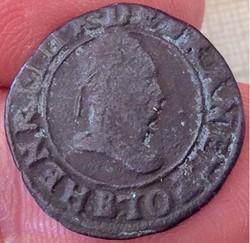 Double tournois Henri III 1589 B Rennes