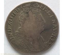 Quart d'écu aux trois couronnes Louis XI...