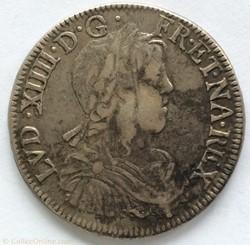 Demi écu à la mèche longue Louis XIV 165...