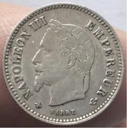 20 cent Napoléon III 1867 A Paris tête l...