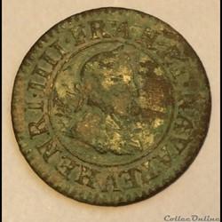 Double tournois 1599 A Paris Henri IIII ...