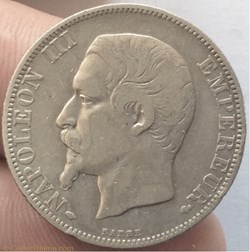 2 francs Napoléon III 1857 A tête nue Pa...