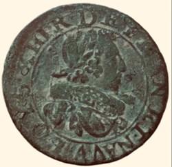 Double tournois Louis XIII 1629 A Paris