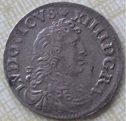 4 sols des traitants Louis XIV 1676 D