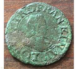 Denier tournois Louis XIII 1619 G Poitie...