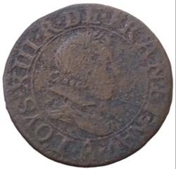 Double tournois Louis XIII 1626 A Paris