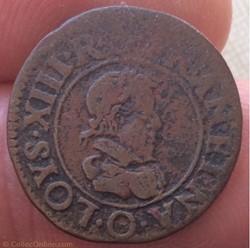 Double tournois Louis XIII 1624 O Riom