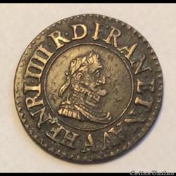 Denier tournois 1609 A Paris Henri IIII ...