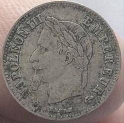 20 cent Napoléon III 1866 K tête laurée ...
