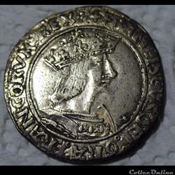 Teston, de François I 13e type n.d. Lyon