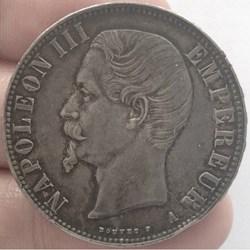 5 francs Napoléon III 1856 A tête nue Pa...