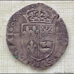 huitième d'écu du Béarn Henri IV 1605 Mo...